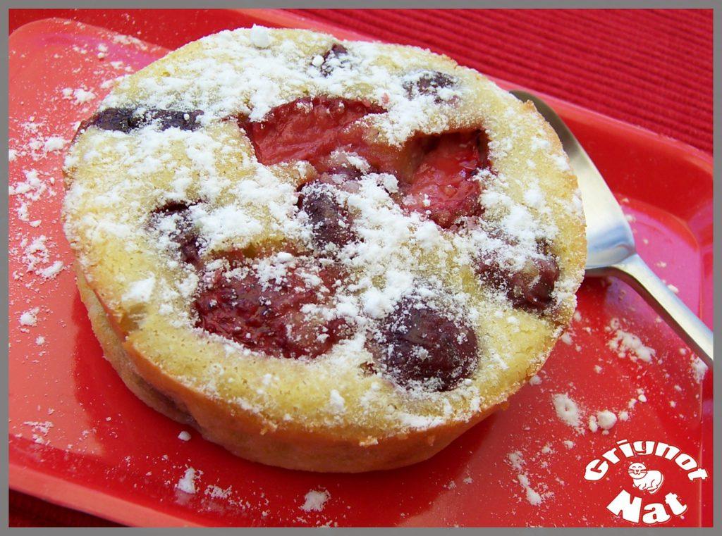 Clafoutis aux cerises et aux fraises 2