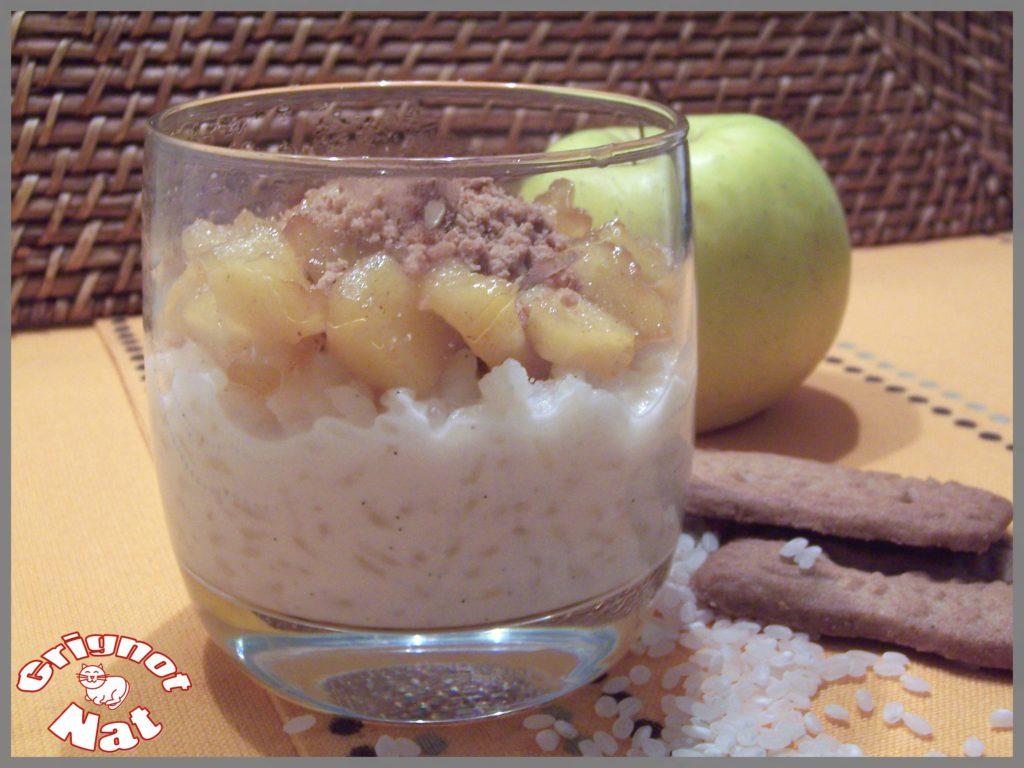 Riz au lait, pommes et spéculoos 2