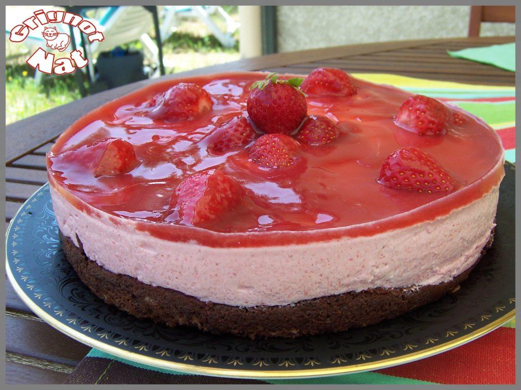 bavarois fraises base choco