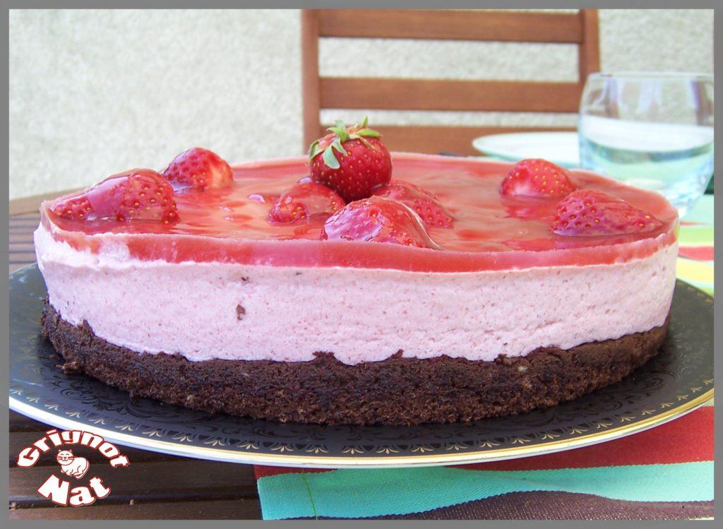 bavarois fraises base choco 2