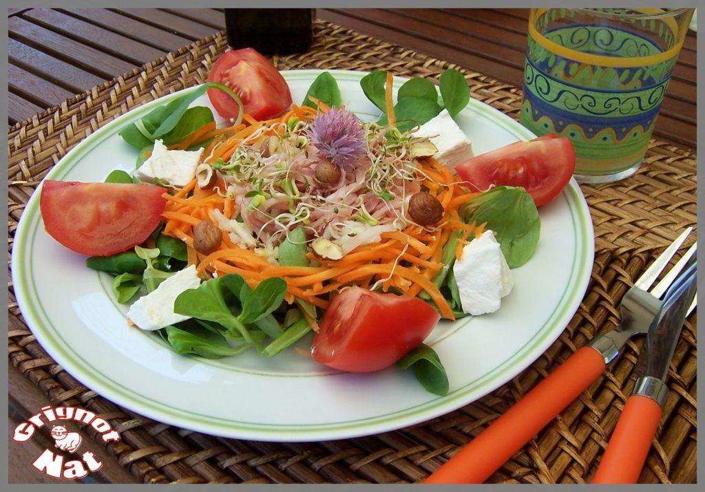salade de crudités au chèvre frais 2