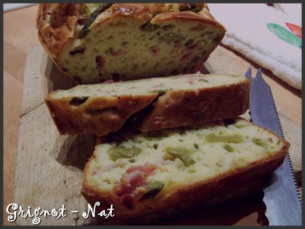 cake asperges vertes et bacon 2