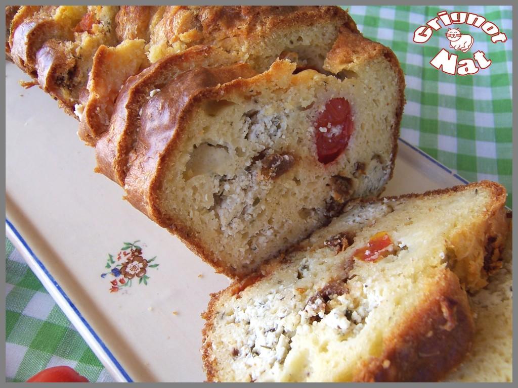 cake tomate cerise- tomate séchée