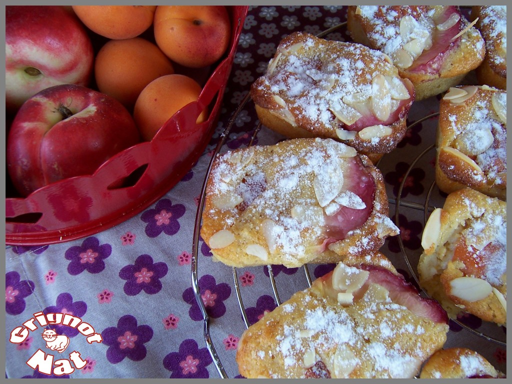 mini cakes abricots - nectarines 3