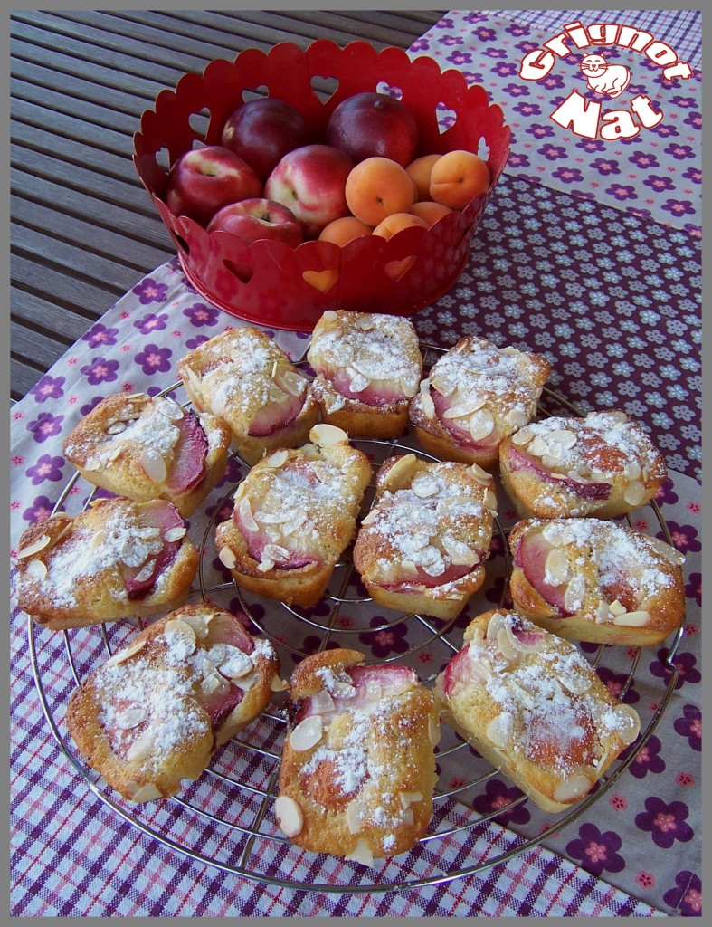 mini cakes abricots - nectarines