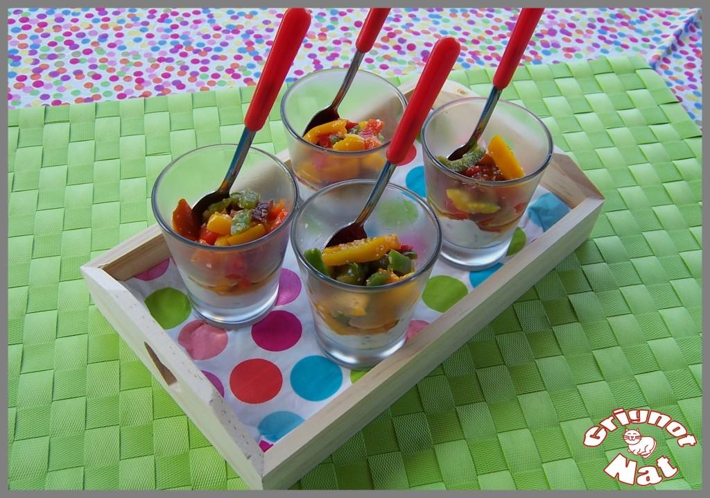 verrine poivrons, chèvre frais 2