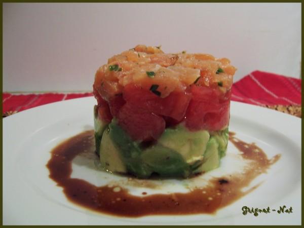 Salade tomates, avocats et saumon fumé 2