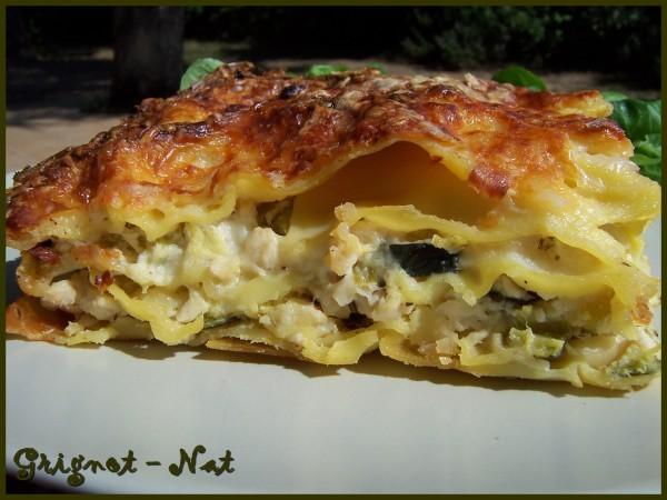Lasagnes poulet, chèvre et courgettes 2