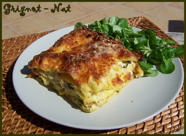 Lasagnes-poulet--chevre-courgettes