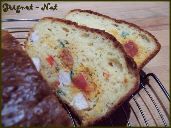 Cake poulet poivrons et chorizo 2