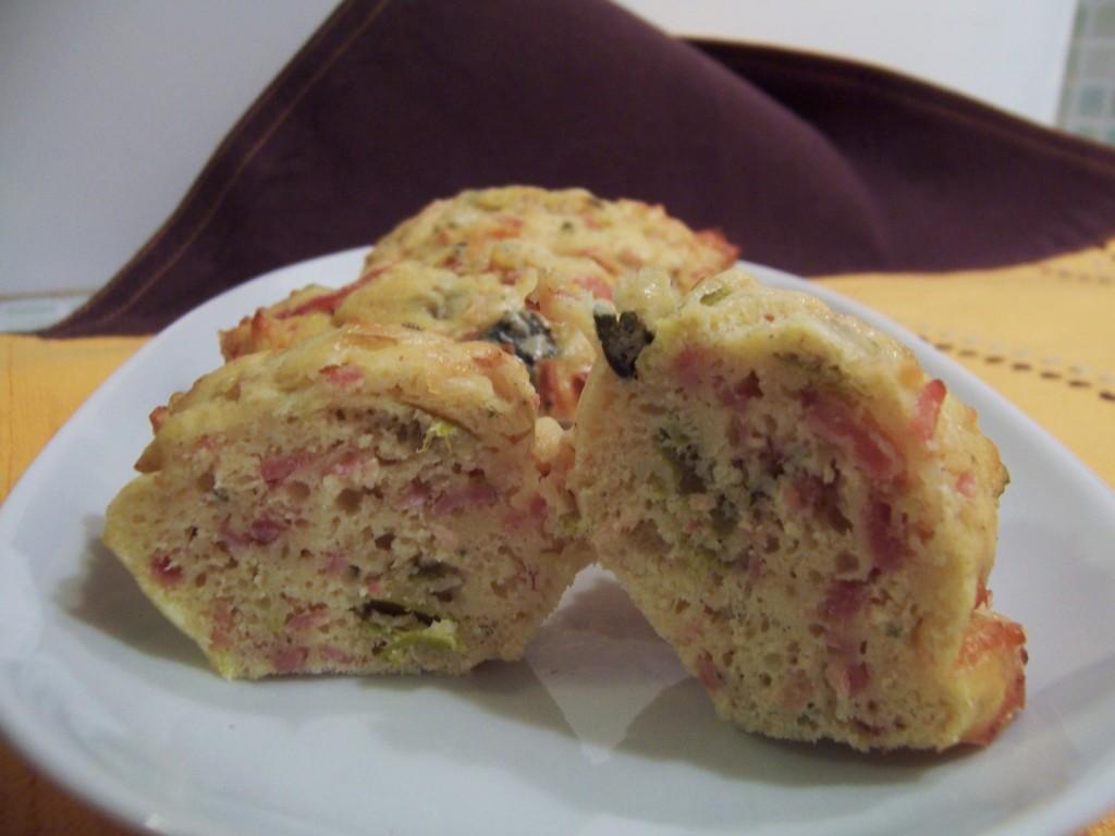 cakes poireau-lardon