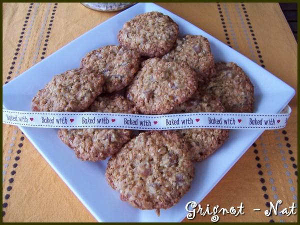 Cookies aux 5 céréales et abricots secs 2