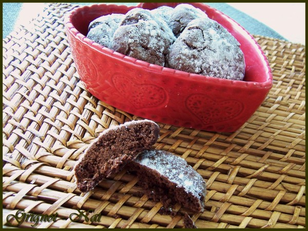 Biscuits craquelés au chocolat  3