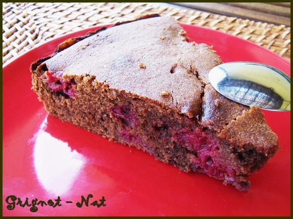 Gâteau au chocolat et aux cerises 2