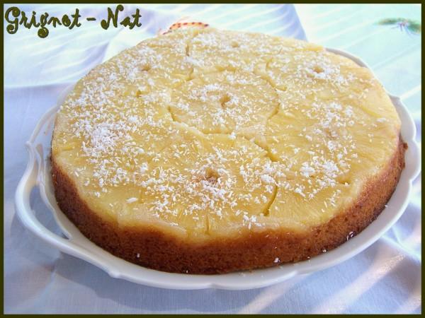 gâteau renversé ananas et noix de coco 3