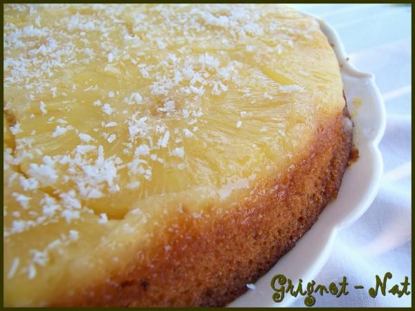 gâteau renversé ananas et noix de coco 2