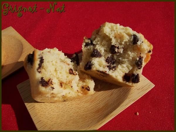 muffins au lait de coco et pépites de chocolat 2