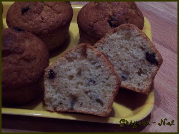 Muffins banane et pépites de chocolat 2