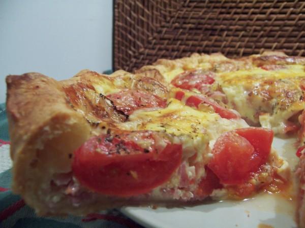 Quiche tomates, jambon et chèvre 2