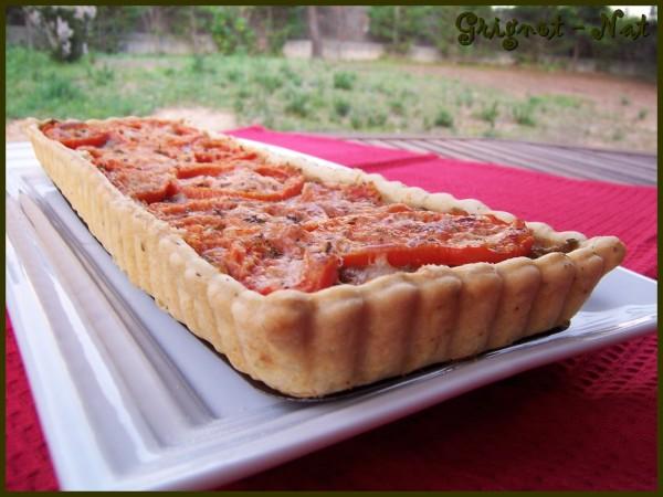tarte aubergines et tomates