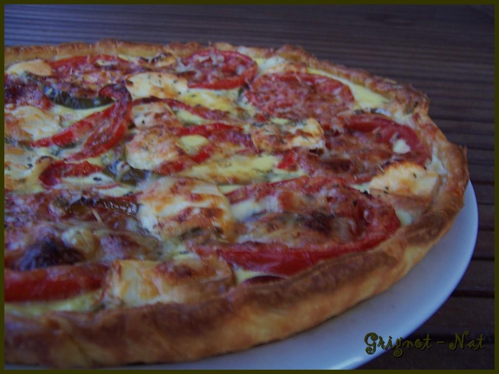 tarte tomates,poivrons,chèvre 3