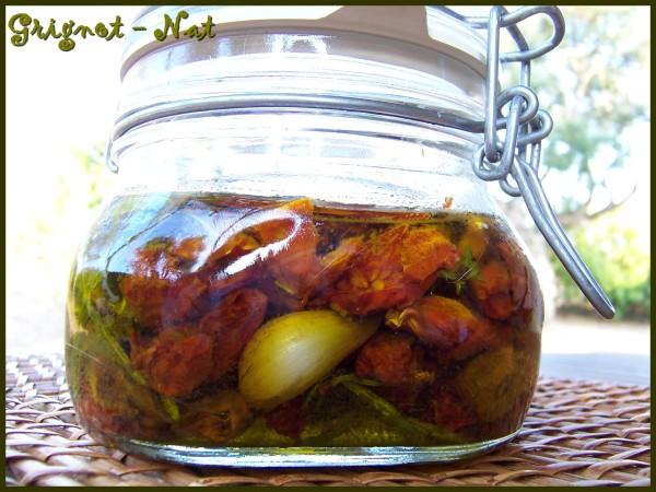 Tomates confites à l'huile d'olive 3