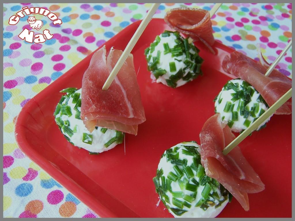 brochettes apéro chèvre - jambon 2