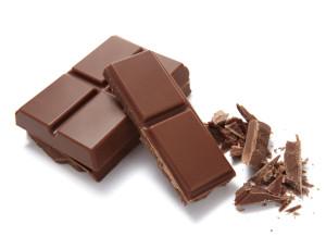 chocolate bar on white background