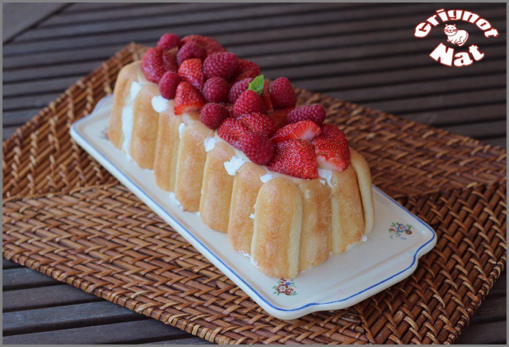 Charlotte fraises et framboises