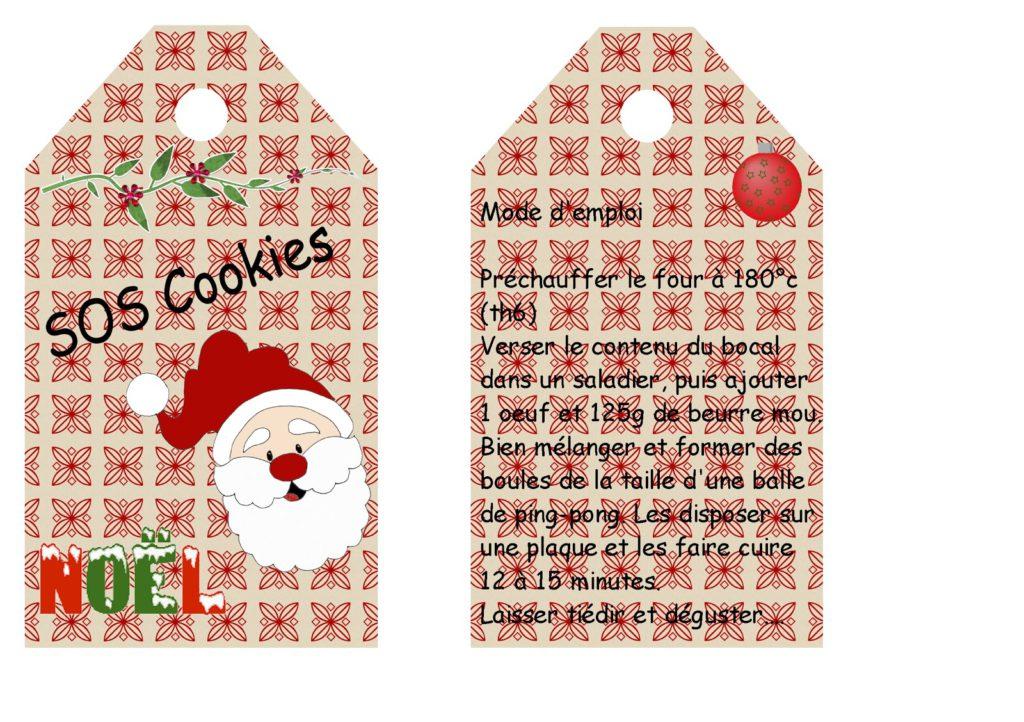 "Etiquettes kit ""SOS cookies"" 2"