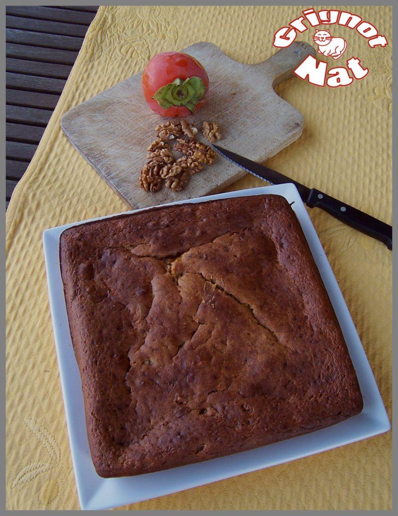 Gâteau aux kakis et aux noix 2