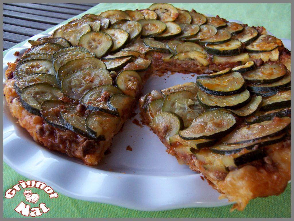 Tarte fine aux courgettes et sauce bolognaise 3