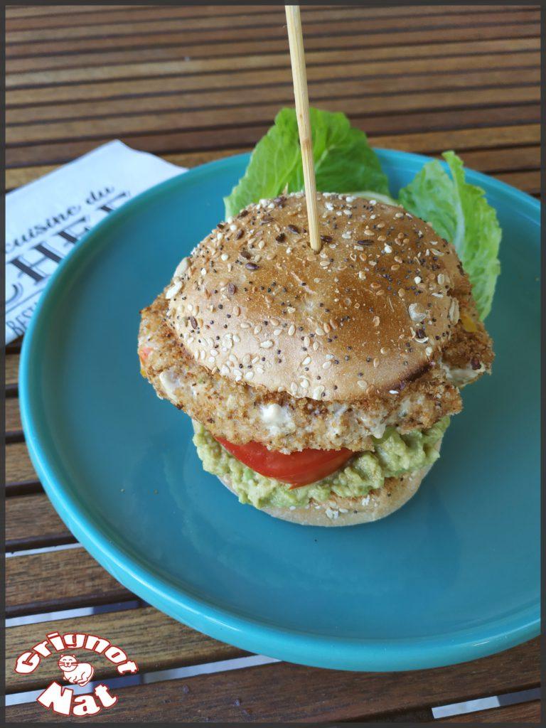Burger au saumon. 2