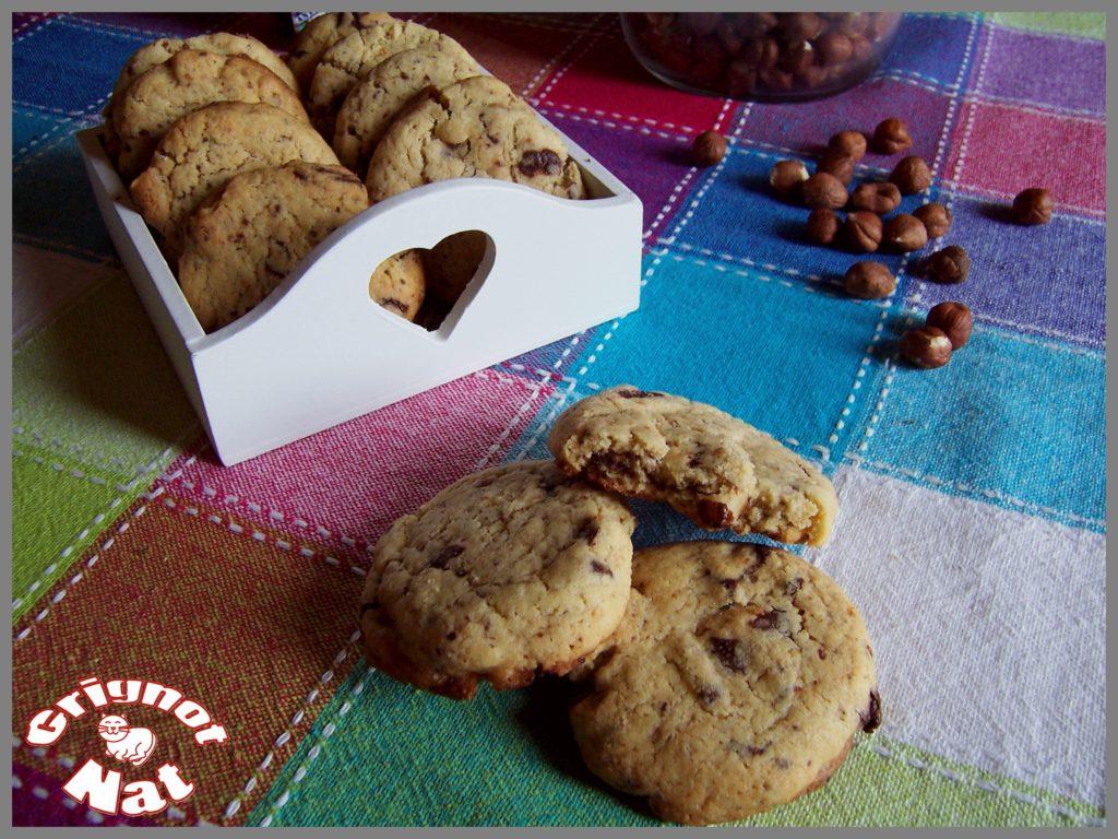 Cookies noisettes et pépites de chocolat (sans beurre)