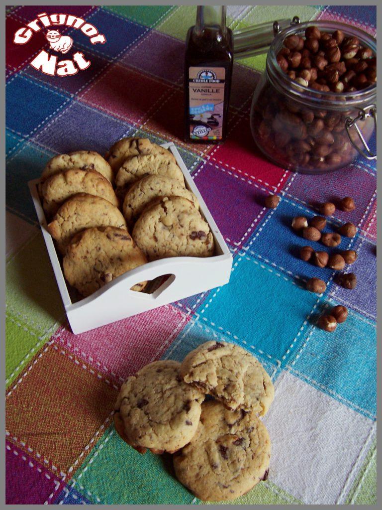Cookies noisettes et pépites de chocolat (sans beurre) 2