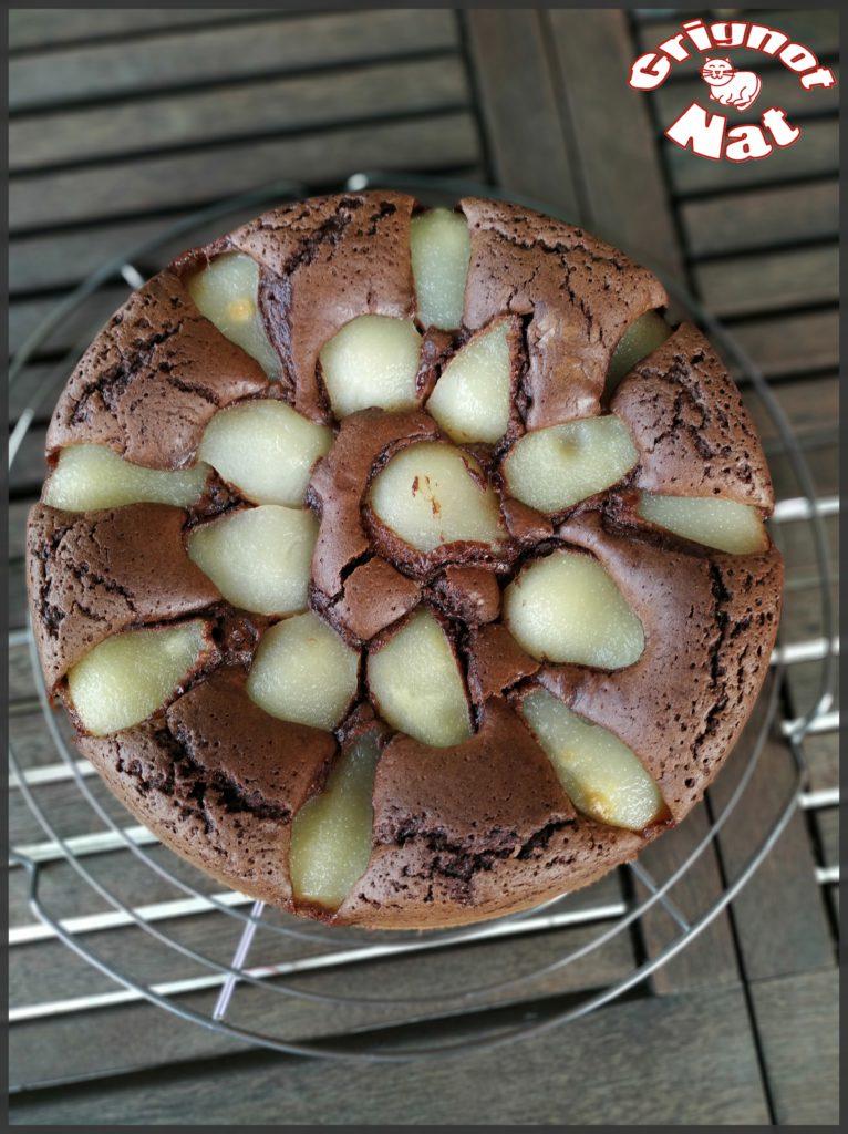 gâteau moelleux chocolat - poires 2