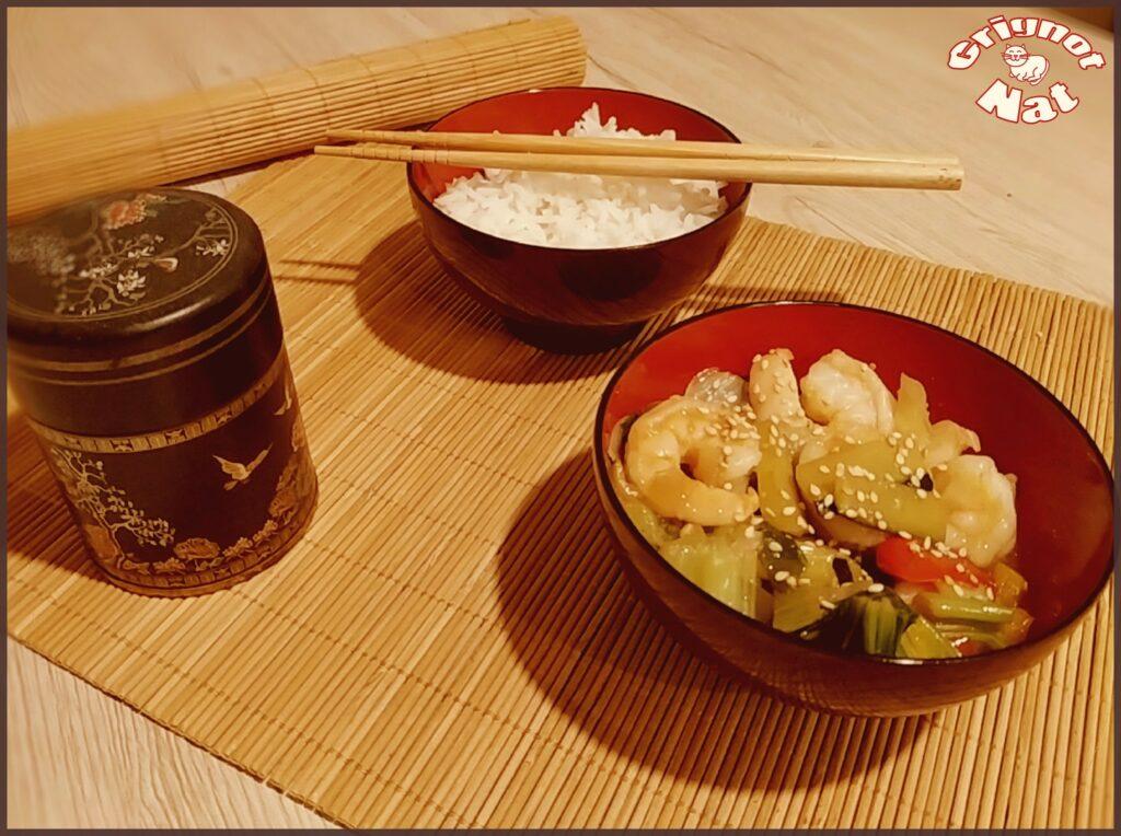 crevettes et pak choï 2