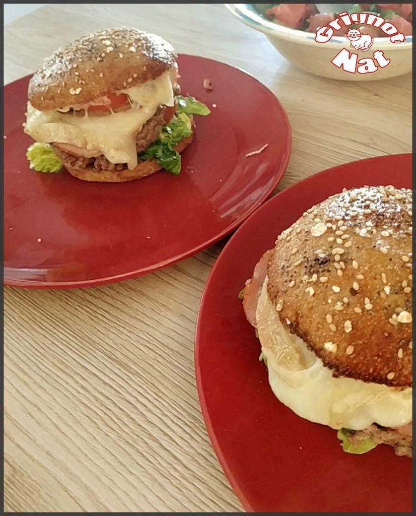 hamburger bacon et tomme de brebis
