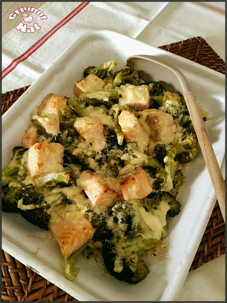 gratin saumon brocolis
