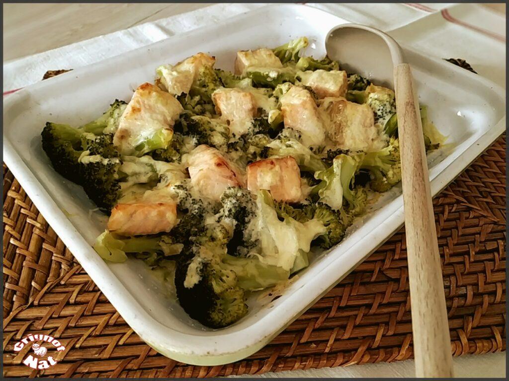 gratin saumon brocolis 2