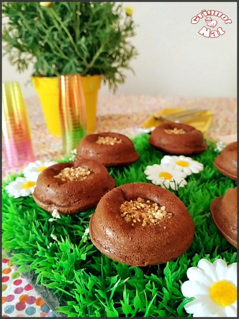 mini moelleux chocolat et caramel