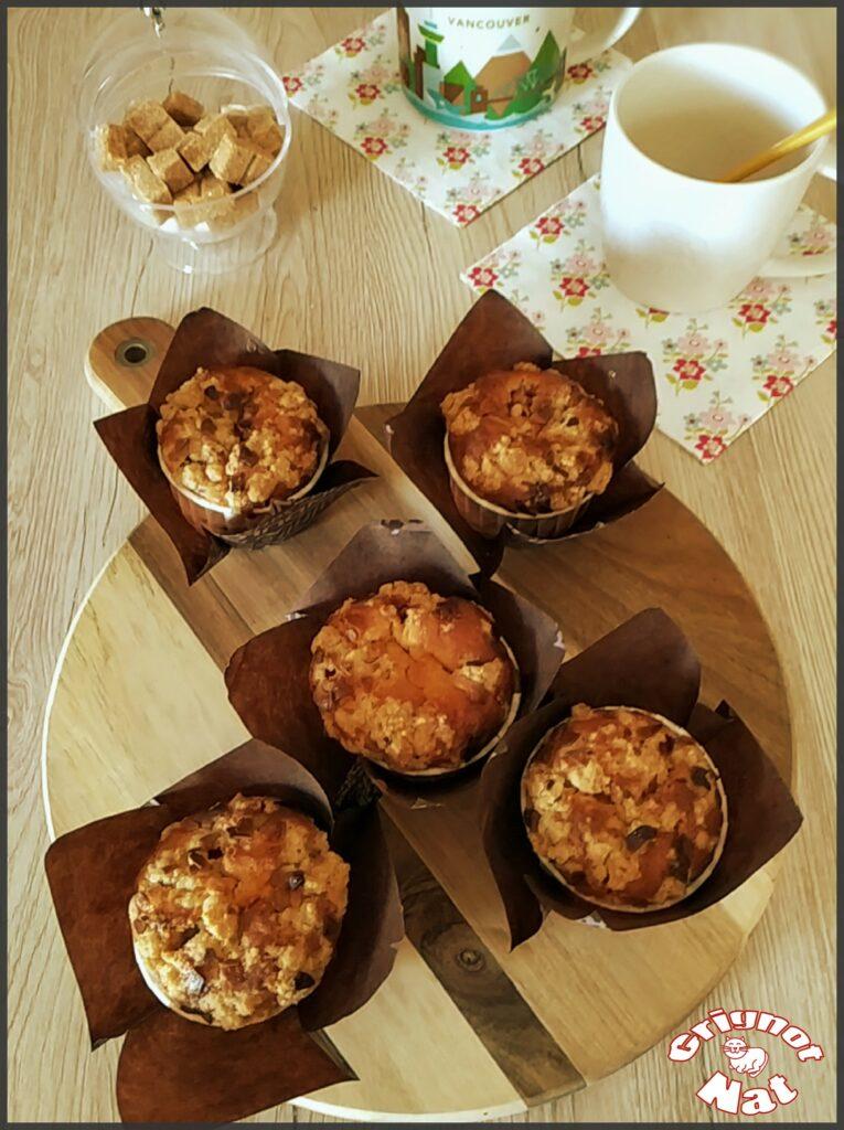 muffins framboises et crumble