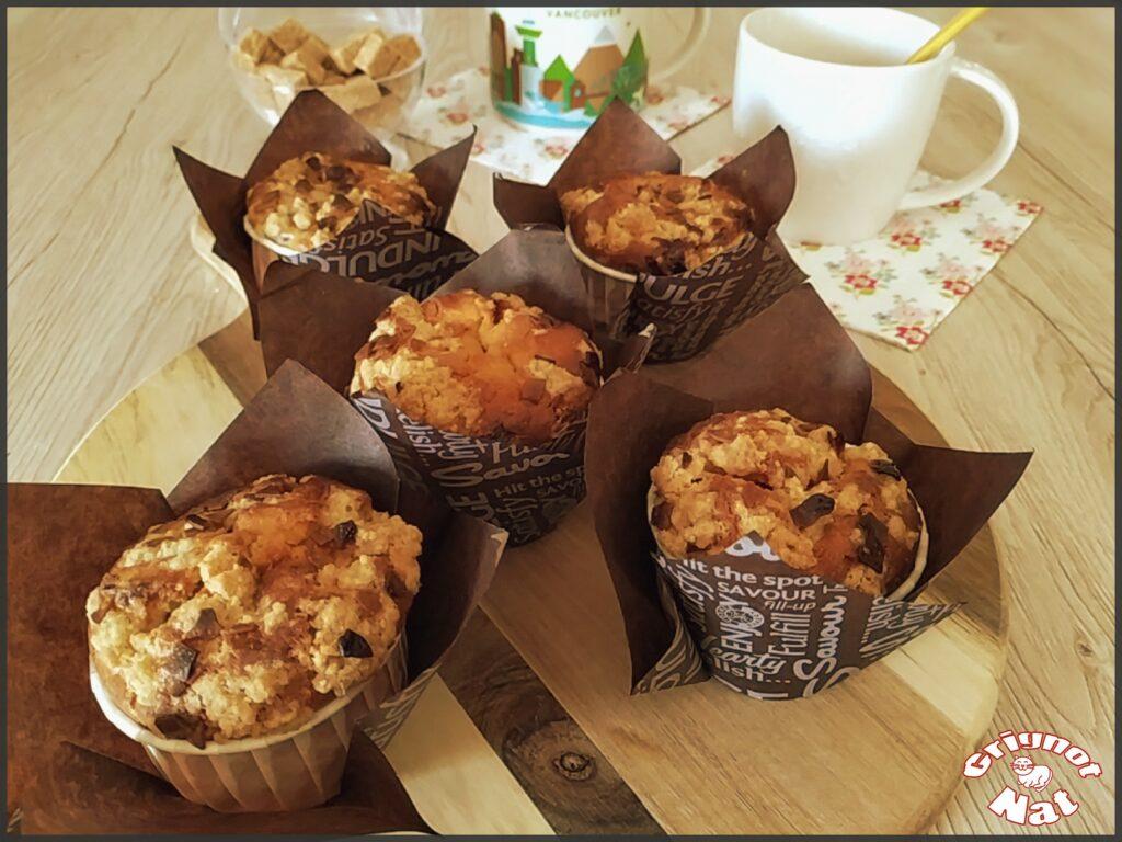 muffins framboises et crumble 2