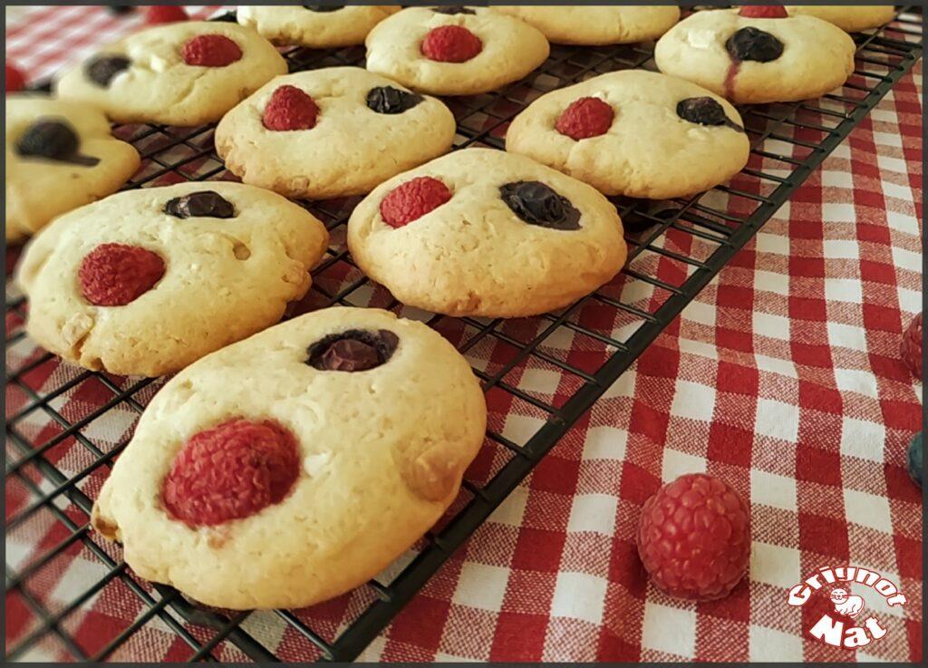 cookies fruits rouges et chocolat blanc 2