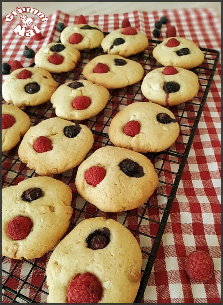 cookies fruits rouges et chocolat blanc