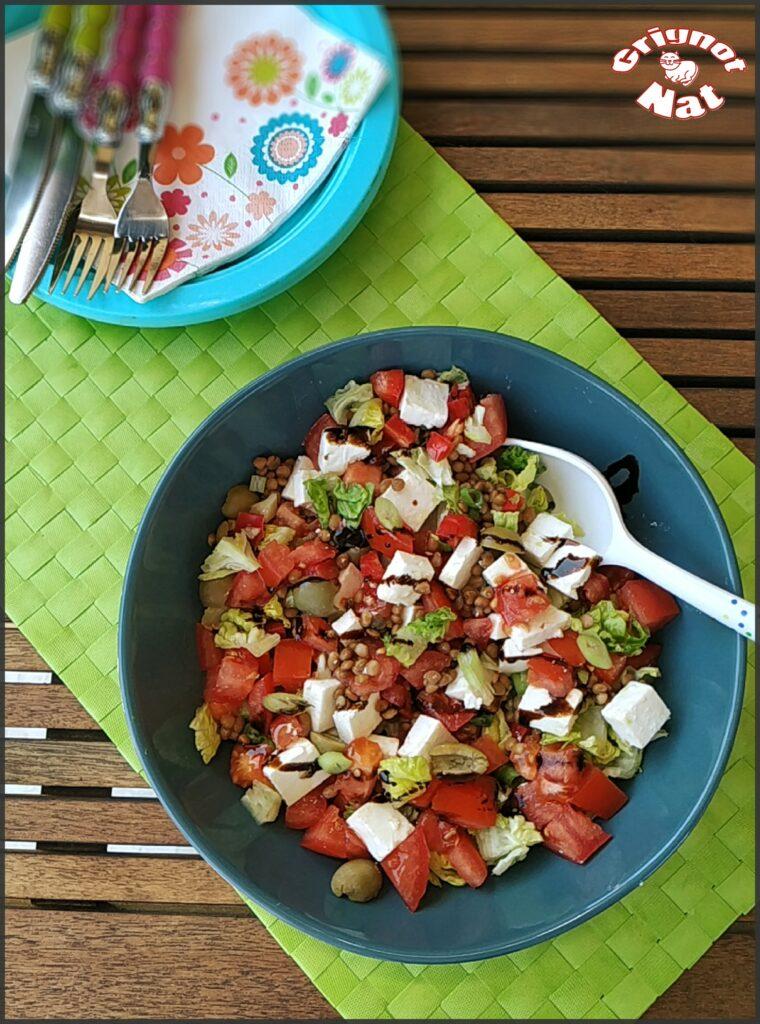 Salade de lentilles à la feta 3