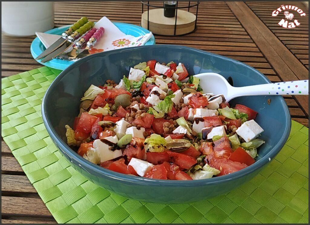 Salade de lentilles à la feta 2