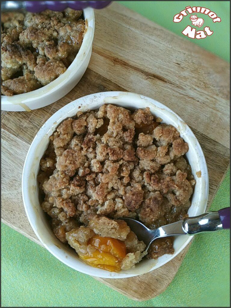 Crumble aux prunes ( recette IG Bas) 3