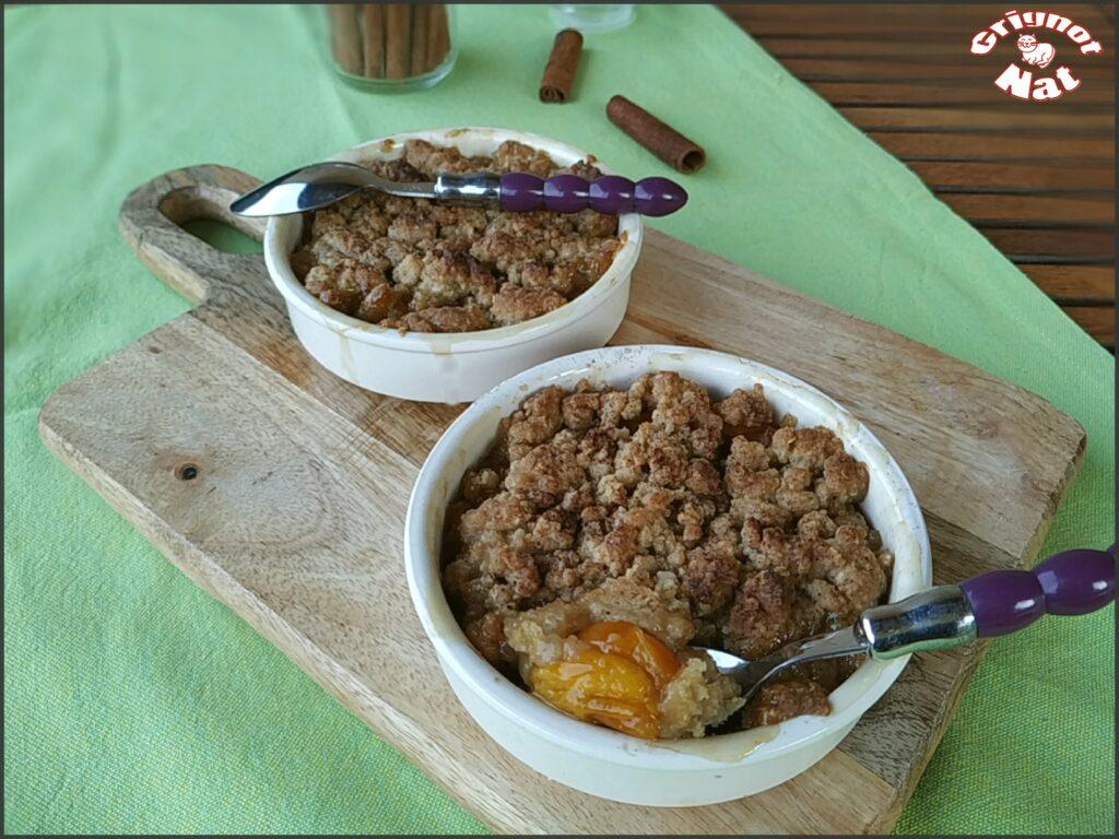 Crumble aux prunes ( recette IG Bas) 2