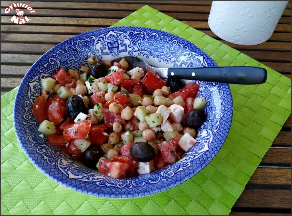 salade pois chiche concombre feta 3